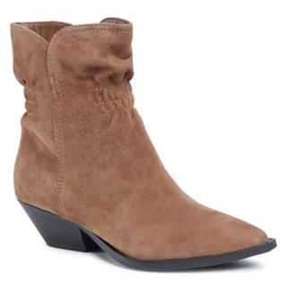 Členkové topánky  V365C-506-2 koža(useň) zamšová