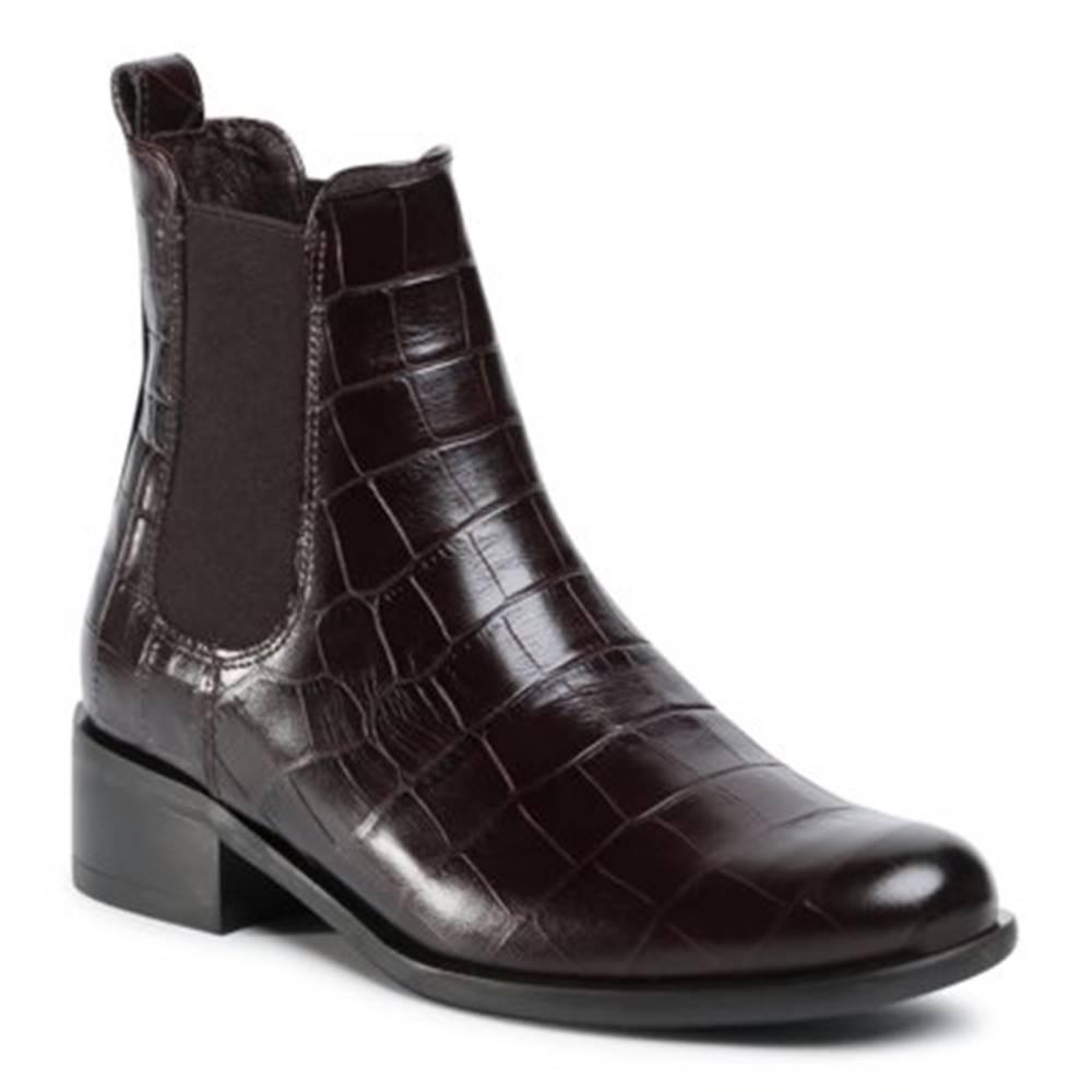 Gino Rossi Členkové topánky  8484-05A koža(useň) lícová