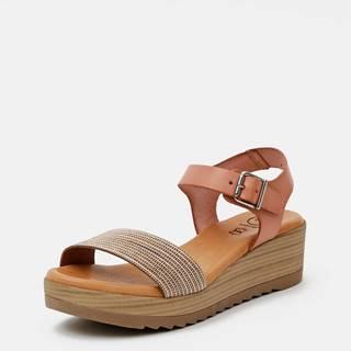 Staroružové kožené sandálky OJJU