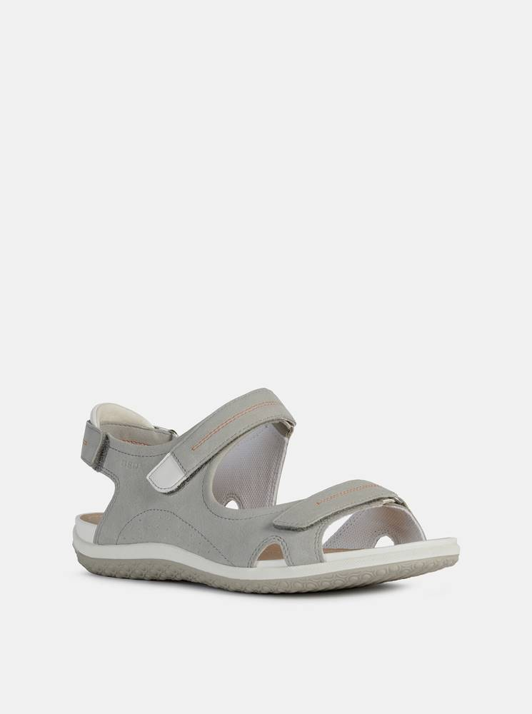 Geox Šedé dámske sandále Geox Vega