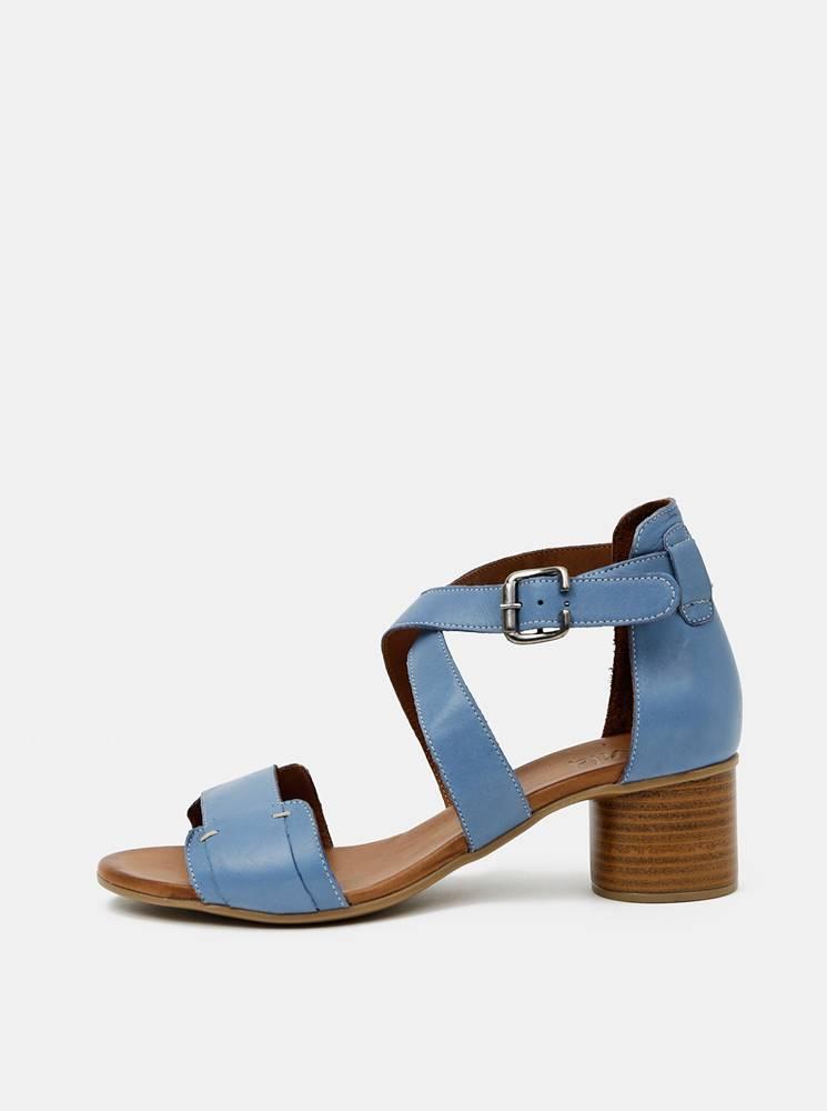 wild Modré kožené sandálky WILD