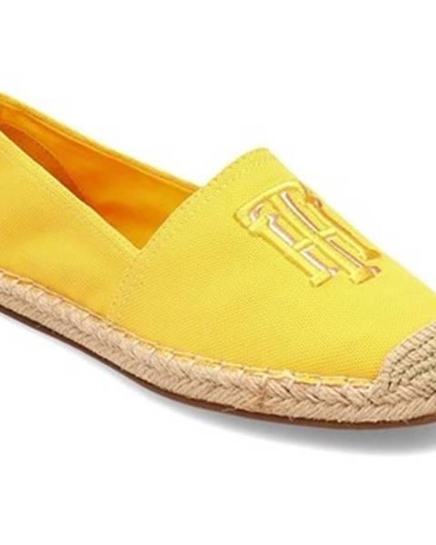 Žlté espadrilky Tommy Hilfiger