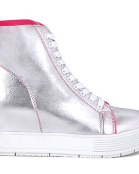 Strieborné topánky Fornarina