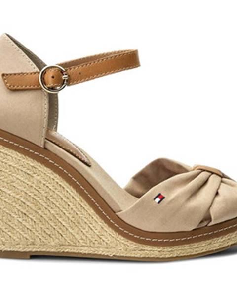 Béžové sandále Tommy Hilfiger