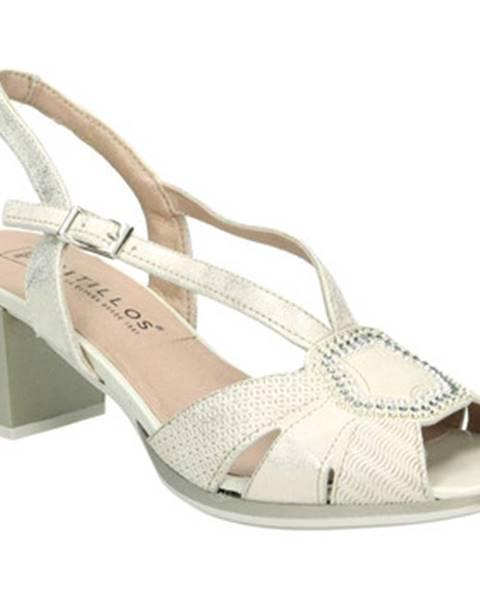 Zlaté sandále Pitillos