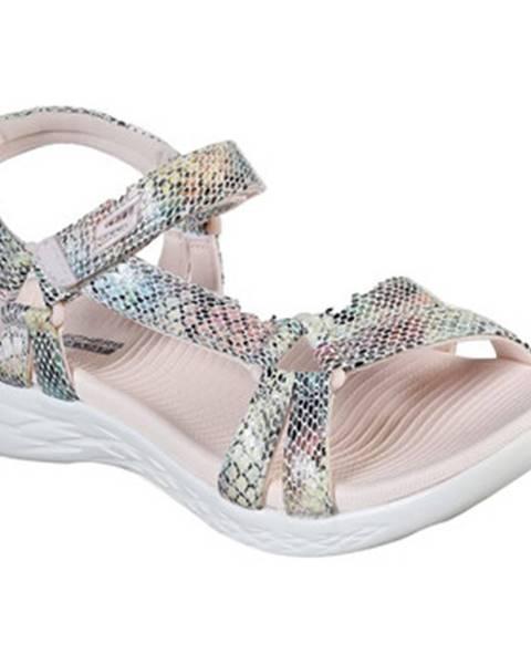 Ružové športové sandále Skechers