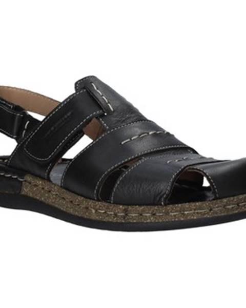 Čierne sandále Susimoda