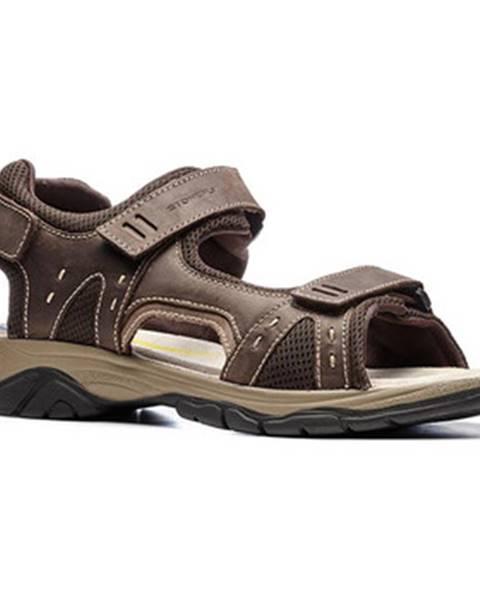 Hnedé športové sandále Stonefly