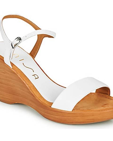 Biele sandále Unisa