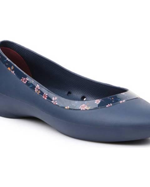 Modré balerínky Crocs