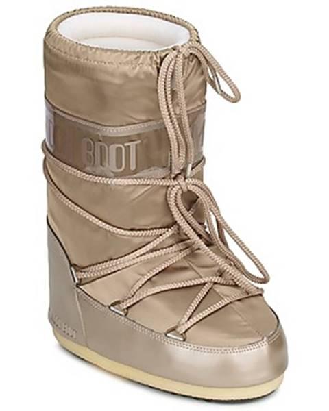 Zlaté topánky Moon Boot