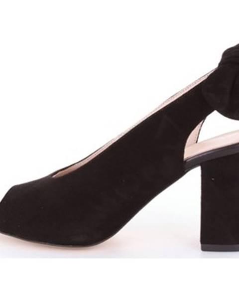 Čierne sandále Via Degli Artigiani
