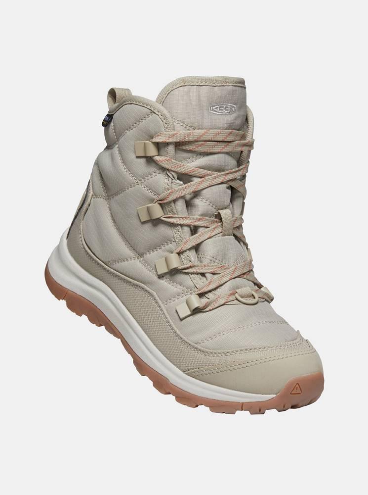 Keen Béžové dámské zimné topánky Keen
