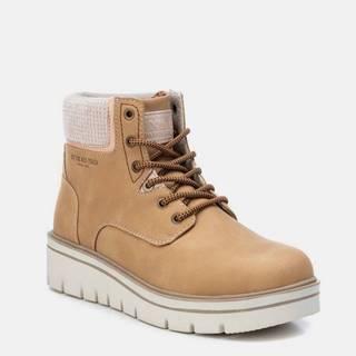 Hnedé dámske zimné členkové topánky Xti