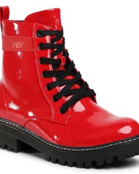 Červené topánky s.Oliver RED LABEL