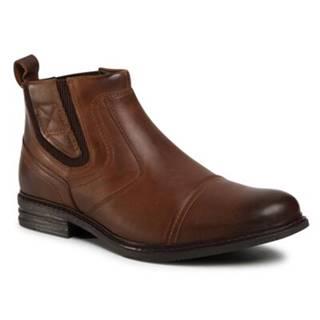 Členkové topánky GO SOFT MB-HAMAR-01 Prírodná koža(useň) - Lícova