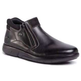 Členkové topánky Rieker B2792-00 Prírodná koža(useň) - Zamš