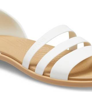 Crocs biele sandále Tulum Open Flat