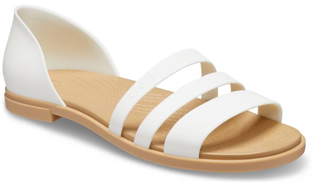Crocs Crocs biele sandále Tulum Open Flat