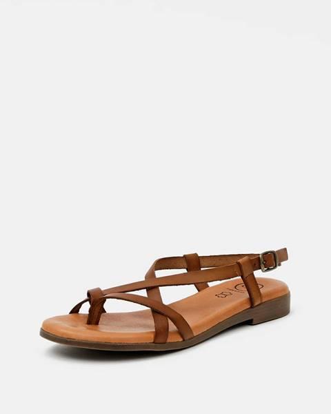 Hnedé sandále OJJU