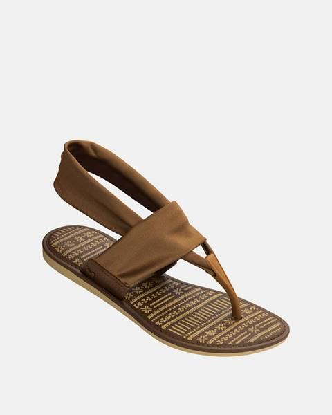 Hnedé sandále Zaxy