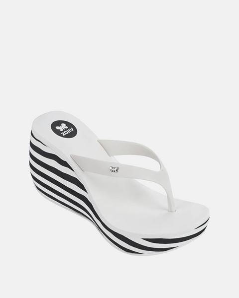 Biele papuče Zaxy