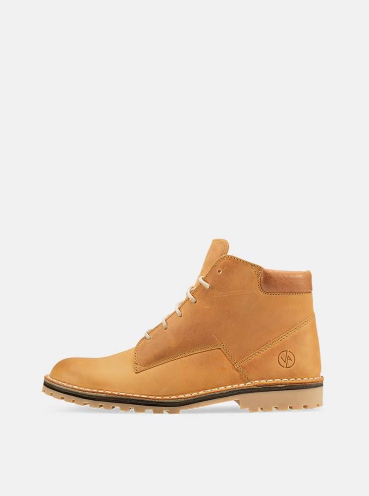 vasky Hnedé kožené členkové topánky Vasky