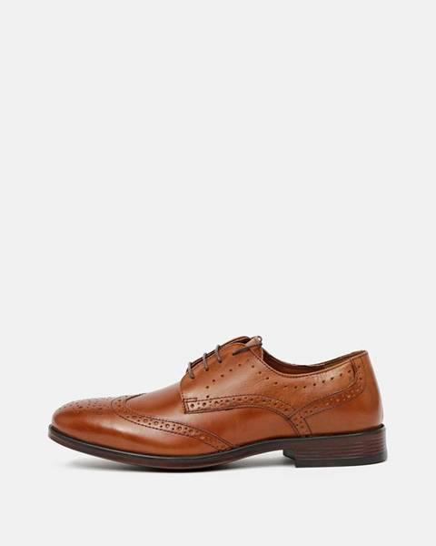 Hnedé topánky Burton Menswear London