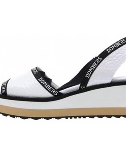 Biele sandále Dombers