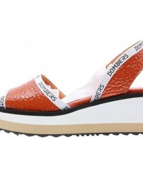 Červené sandále Dombers