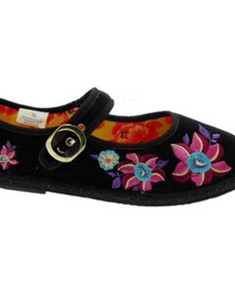 Čierne papuče De Fonseca