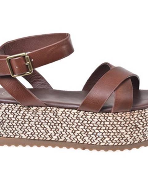Hnedé sandále Exé Shoes