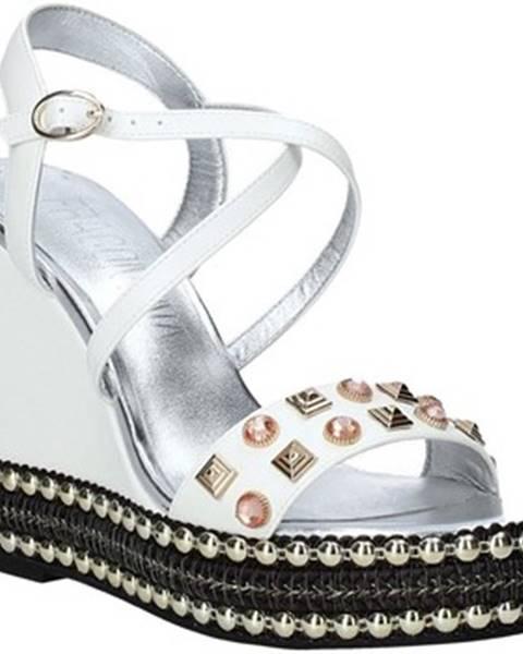 Biele sandále Fracomina
