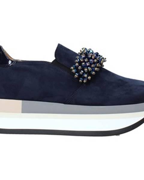 Modré espadrilky Grace Shoes