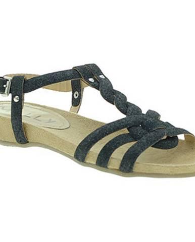 Čierne sandále Mally