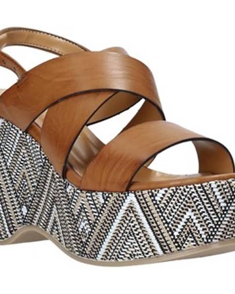Hnedé sandále Grace Shoes