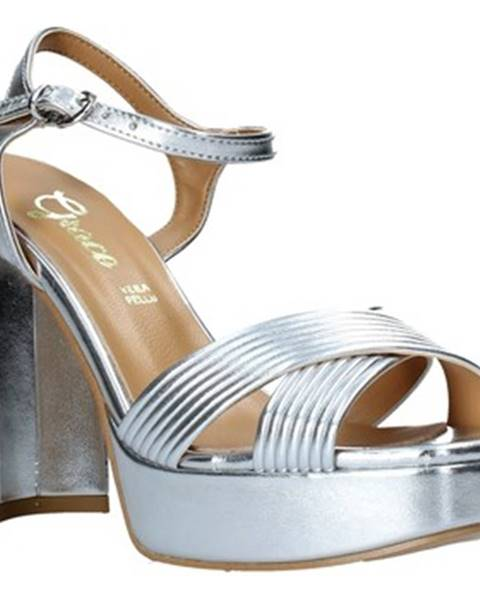 Strieborné sandále Grace Shoes