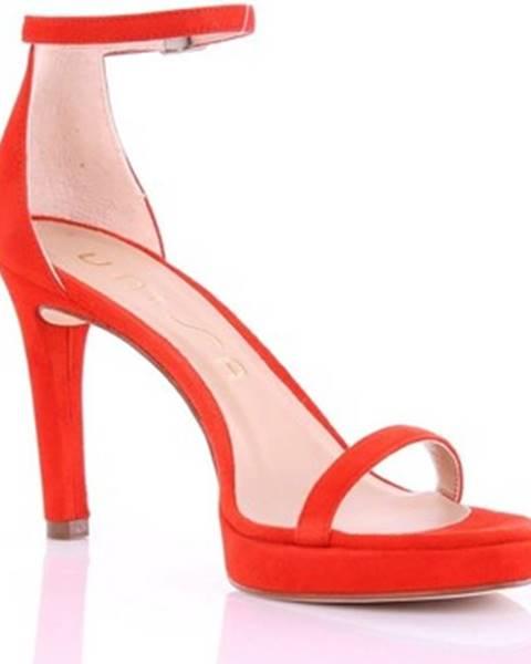 Červené sandále Unisa