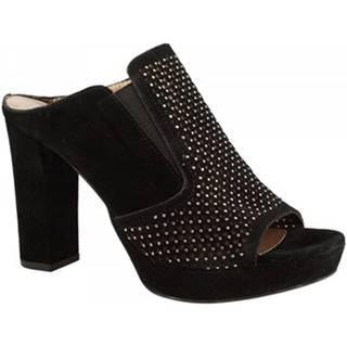 Šľapky Leonardo Shoes  S283 CROSTA NERO