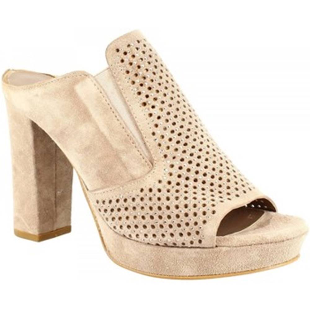 Leonardo Shoes Šľapky Leonardo Shoes  S283 CROSTA VISONE