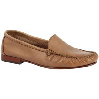 Mokasíny Leonardo Shoes  211 VITELLO CAPPUCCINO