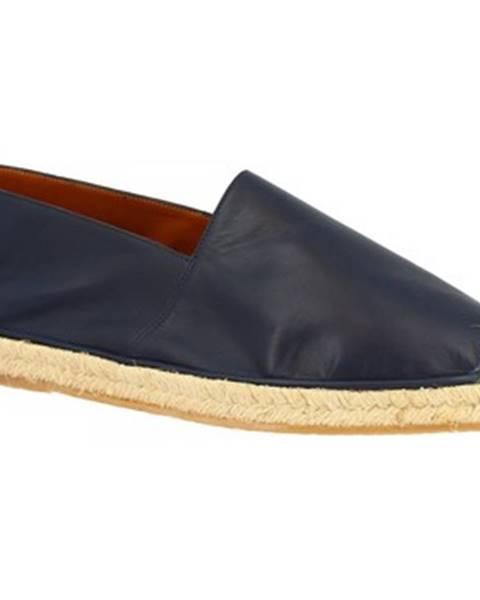 Modré espadrilky Leonardo Shoes
