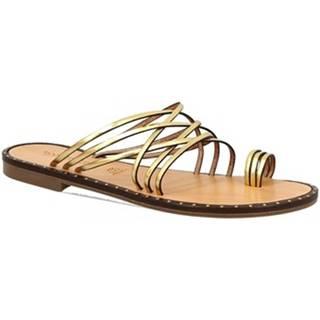 Šľapky Leonardo Shoes  SIENA ORO
