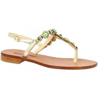 Sandále Leonardo Shoes  E104 PLATINO/VERDE