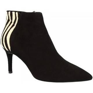 Čižmičky Leonardo Shoes  701 CAMOSCIO NERO/ZEBRA