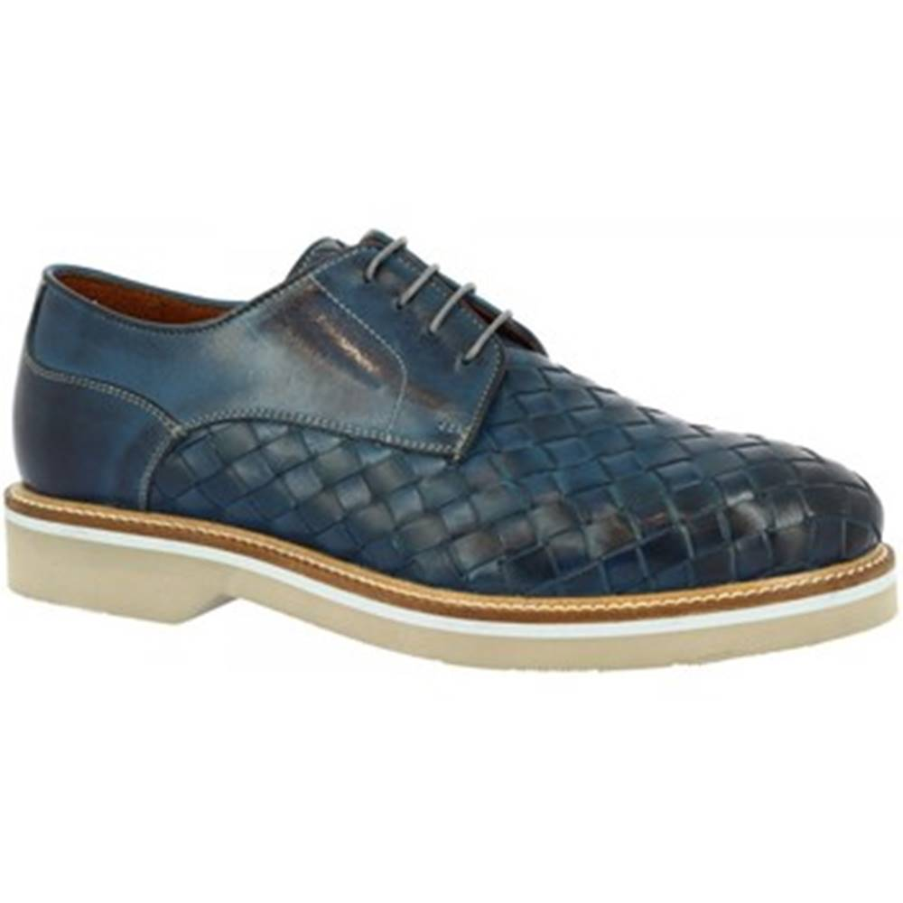 Leonardo Shoes Derbie Leonardo Shoes  07702 BLUE