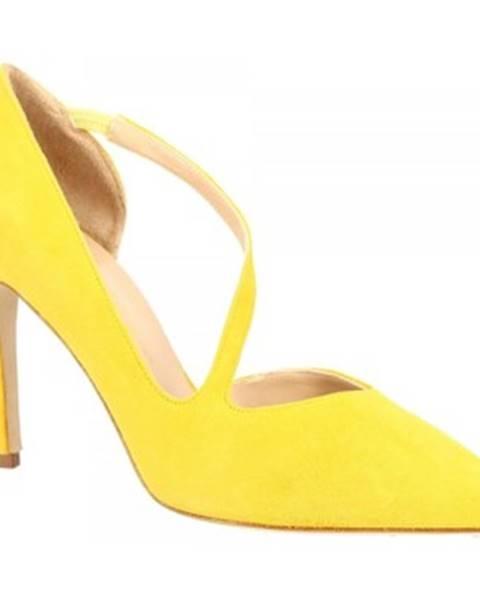 Žlté lodičky Leonardo Shoes