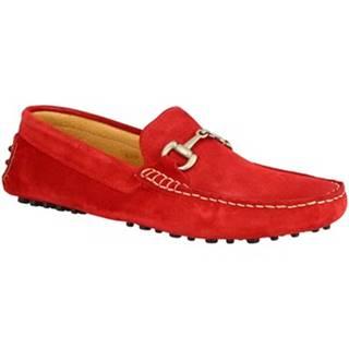 Mokasíny Leonardo Shoes  504 CAMOSCIO ROSSO