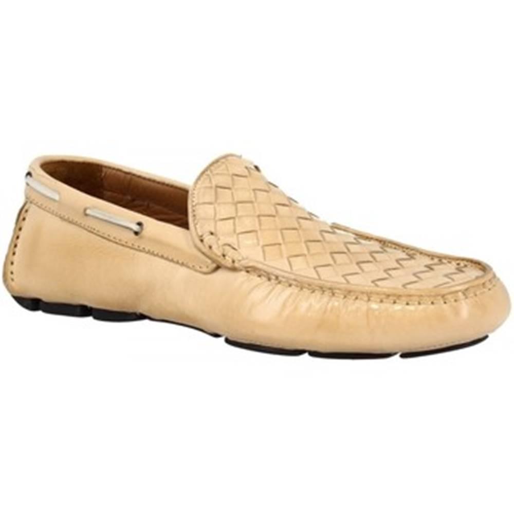 Leonardo Shoes Mokasíny Leonardo Shoes  06079 OXFORD DELAVE OSSO