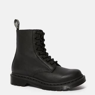 Čierne dámske kožené členkové topánky Dr. Martens Virginia